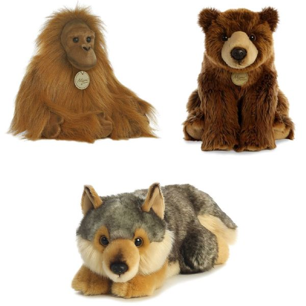 Aurora MIYONI PLUSH Cuddly Soft Toy Teddy Choose From Bear,Wolf Or Orangutan
